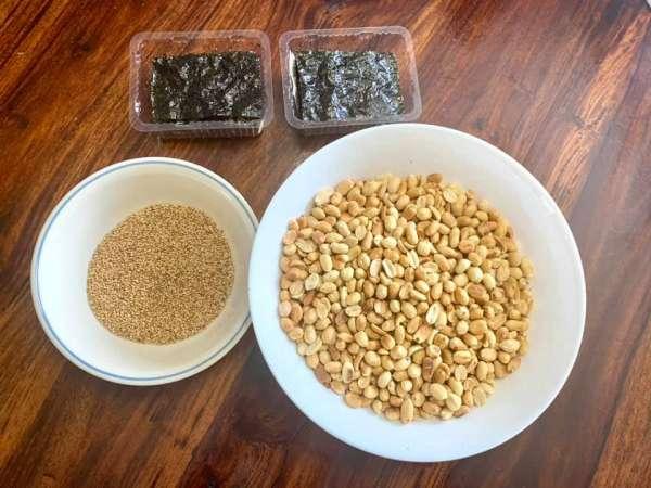 Món ăn Chay : Đậu phộng muối mè 2
