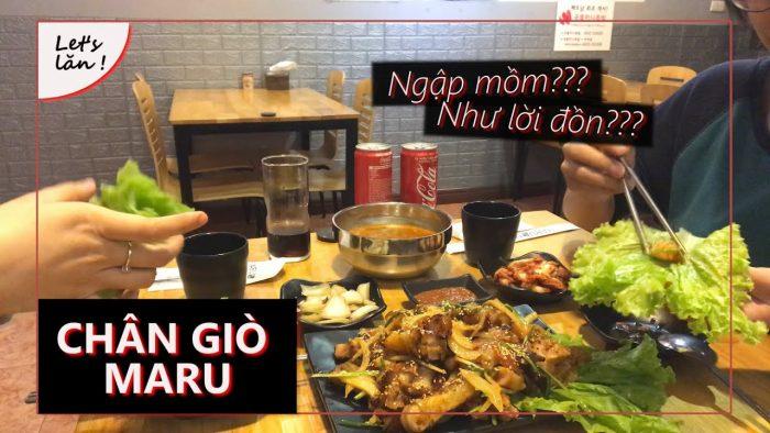 [Review] -CHÂN GIÒ CAY HÀN QUỐC TẠI MARU HOÀNG NGÂN !!