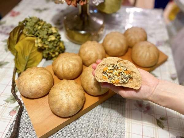 Cách làm Bánh Bao Chay, Bánh Bao DIET giảm cân, BÁNH BAO BỘT MÌ NGUYÊN CÁM 13
