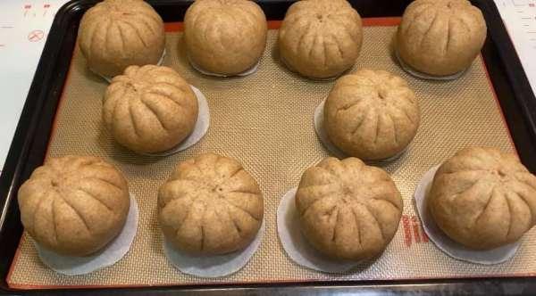 Cách làm Bánh Bao Chay, Bánh Bao DIET giảm cân, BÁNH BAO BỘT MÌ NGUYÊN CÁM 9