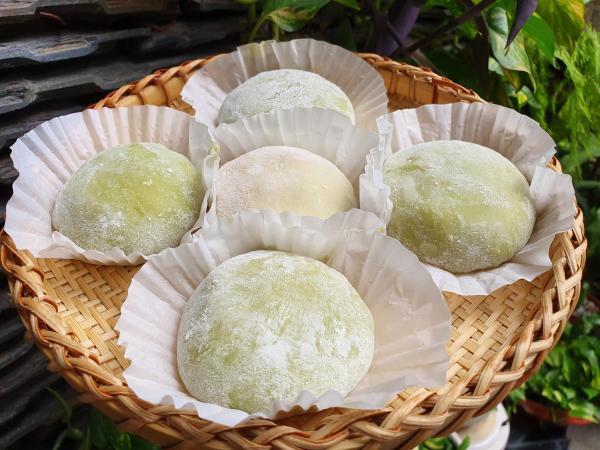 Cách làm Bánh Mochi Sữa Dừa Lá Dứa -  Món ăn tráng miệng ngon 4