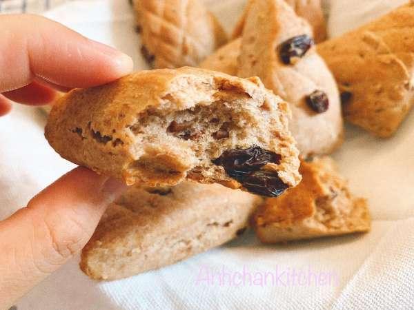 Cách làm Bánh Scone bột nguyên cám nho khô hạnh nhân 2