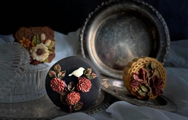 Bánh Trung Thu phong cách hoa hiện đại, đẹp xuất sắc 8
