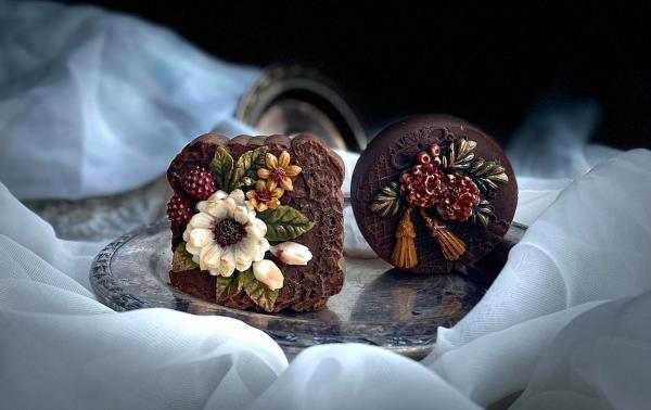 Bánh Trung Thu phong cách hoa hiện đại, đẹp xuất sắc 10