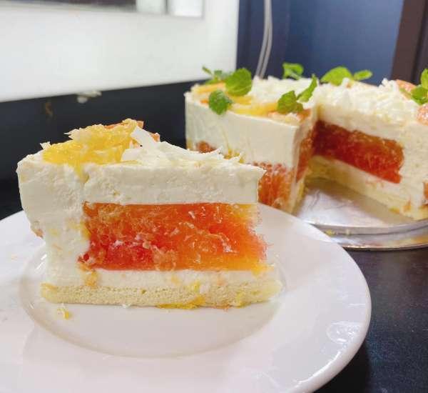 [Công Thức] Cách làm Bánh Cheese Cake Cam ngon mịn xịn sò 3