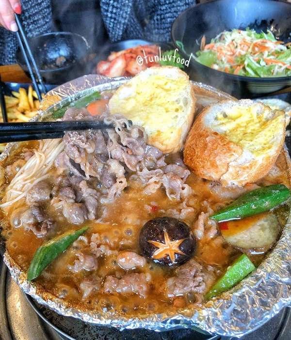 [Review] - Bò nầm nướng chảo sốt - Nhúng Quán , ngõ 298 Tây Sơn 2