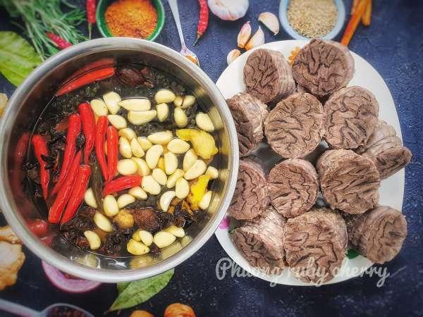 Cách làm Bắp bò ngâm ngũ vị, món ngon tuyệt vời cho ngày tết 6