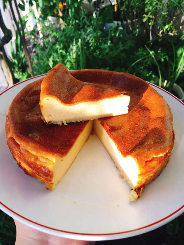 Cách làm Bánh phô mai - Basque burnt cheesecake 6