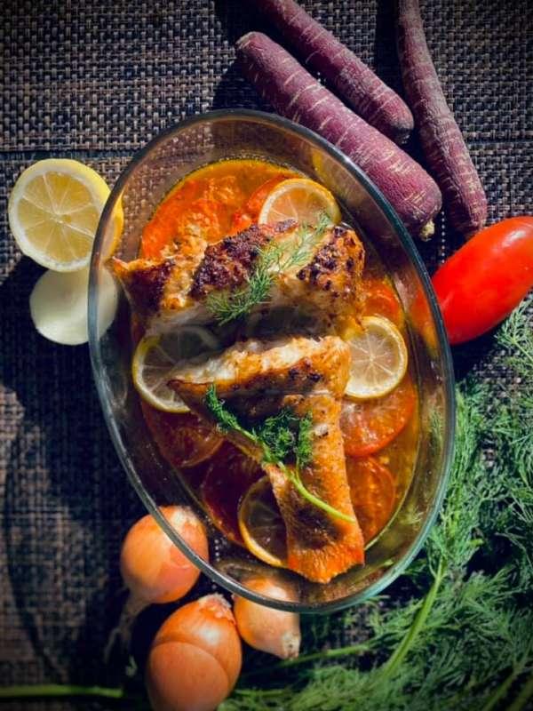 Cách làm Cá Nướng Chanh Cà chua nhanh gọn lẹ 6