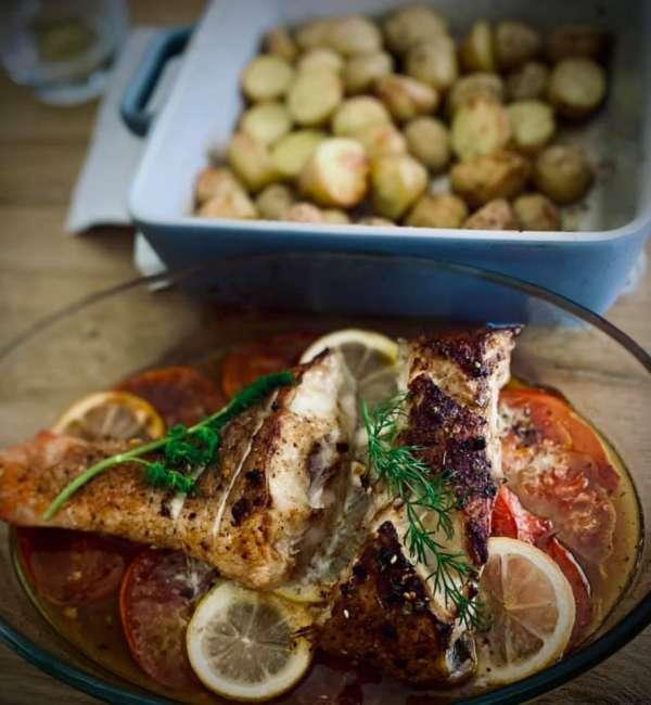 Cách làm Cá Nướng Chanh Cà chua nhanh gọn lẹ 5