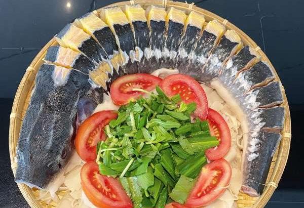 Cách làm món Cá Tầm nấu măng chua & Cá Tầm nướng muối ớt 48