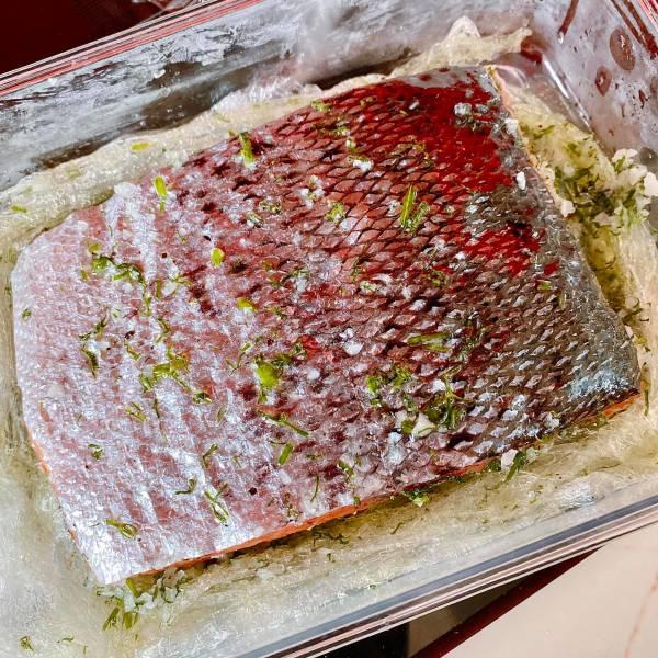 Cá hồi muối - Cách muối Cá Hồi, cực ngonnn 16
