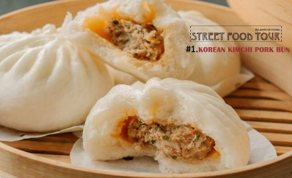 Cách làm Bánh Bao Kimchi, một món ăn đường phố ở Hàn 9