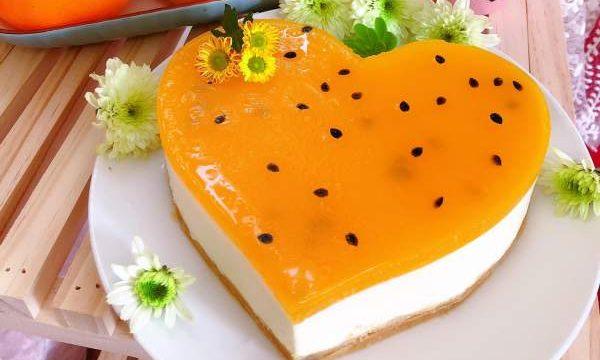 Cách làm Bánh Cheesecake Chanh Dây (chanh leo) không dùng lò nướng 24
