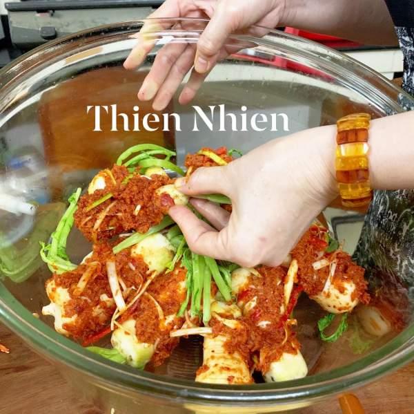 Cách làm Kim chi củ cải Hàn Quốc vị Tôm 15
