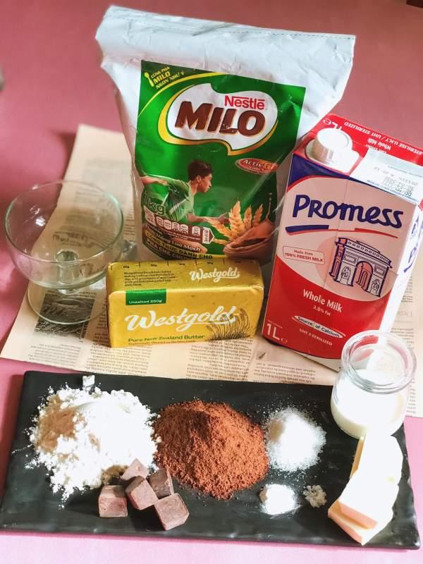 Cách làm Milo brownie chỉ với 90s trong lò vi sóng 2