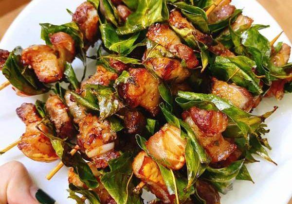 [Công Thức] Cách làm Thịt xiên lá móc mật 58