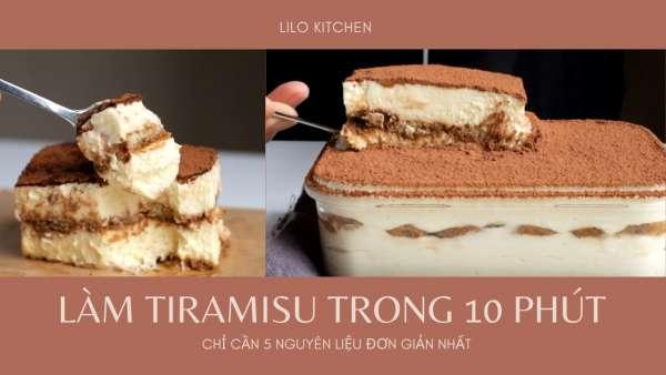 Cách làm bánh TIRAMISU chưa đến 10 phút xongg 2