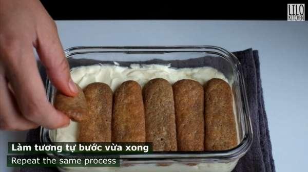 Cách làm bánh TIRAMISU chưa đến 10 phút xongg 16
