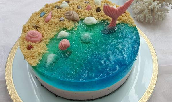 Cách làm bánh kem Ocean Cheese Cake 11