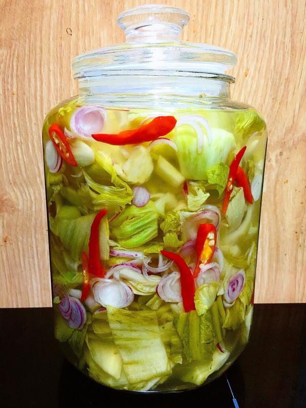 Cách làm dưa cải muối chua tại nhà cực ngon 4