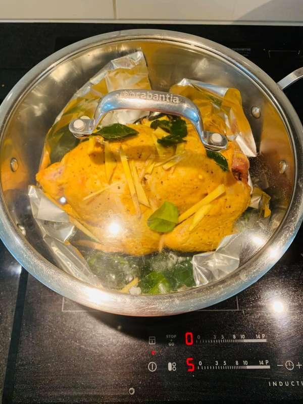 Cách làm gà hấp muối ngon chất lượng 6