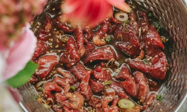 Cách làm món Thịt Bò Xào Beef Bulgogi Hàn Quốc 29