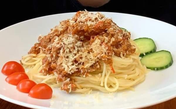 [Công Thức] Cách làm mỳ Ý - Spaghetti - Sốt cà chua thịt bằm cực dễ làm 13