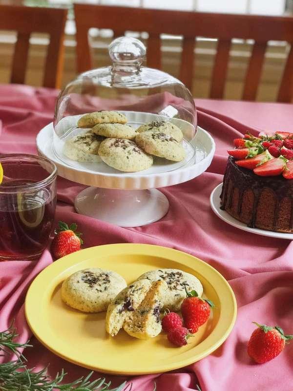 Công Thức Bánh quy bơ vị trà bá tước với hoa oải hương 4