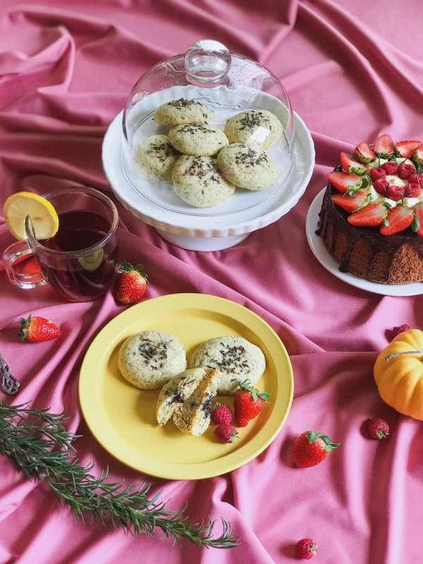 Công Thức Bánh quy bơ vị trà bá tước với hoa oải hương 3