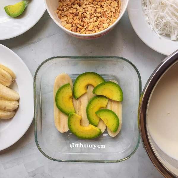 Công Thức Cách làm KEM BƠ CHUỐI ít béo mịn dẻo thơm ngon bao phê 4