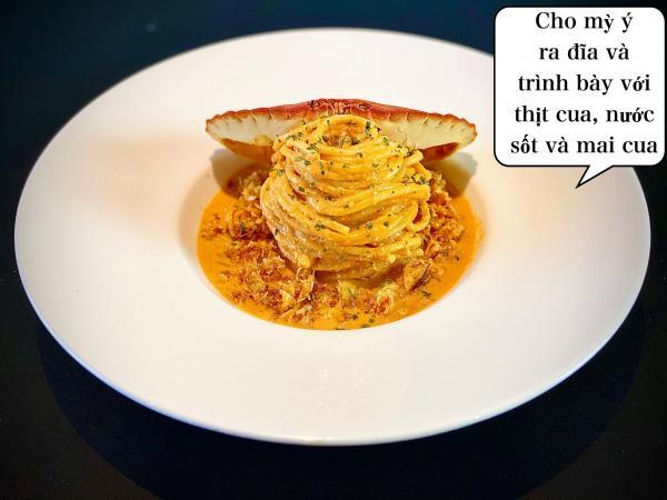 [Công Thức] Cách làm Mỳ Ý Cua Pizza 4P -Crab Spaghetti 1