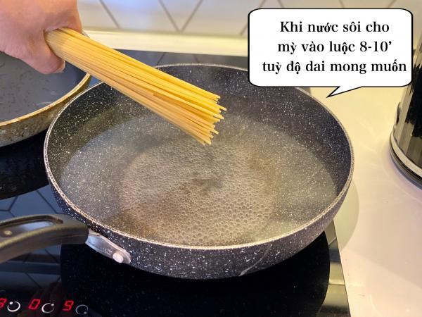 [Công Thức] Cách làm Mỳ Ý Cua Pizza 4P -Crab Spaghetti 4