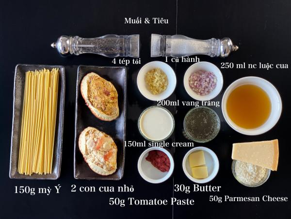 [Công Thức] Cách làm Mỳ Ý Cua Pizza 4P -Crab Spaghetti 2