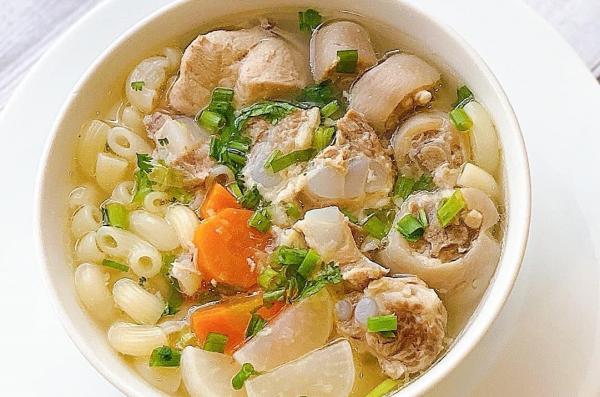 [Công Thức] Cách nấu Nui Sườn Sụn Đuôi Heo ngon 8
