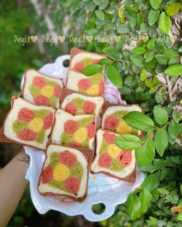 Công Thức Làm Bánh Mỳ Xinh Cute Nhiều Màu Sắc - Cách Làm Bánh Mỳ Cute 4