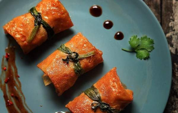 [Công Thức Món Ăn Chay] Cách làm Đậu Hũ Ky Khìa Nước Dừa 9