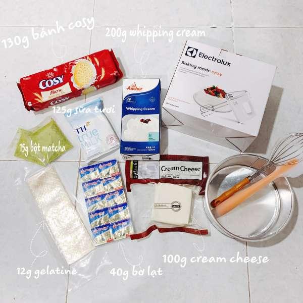Công thức bánh Mousse Trà Xanh - MATCHA MOUSSE CAKE 3