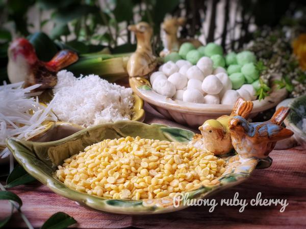 Cách nấu CHÈ ĐẬU XANH TRÂN CHÂU, BỘT BÁNG, THẠCH ĐEN, CỐT DỪA 5