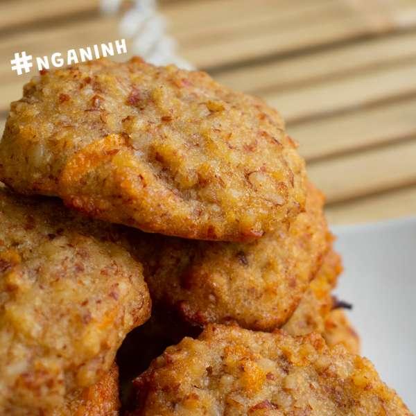 Cách làm bánh COOKIE HẠNH NHÂN VỊ CAM, COOKIE YẾN MẠCH, COOKIE HẠNH NHÂN 2