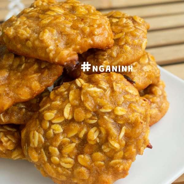 Cách làm bánh COOKIE HẠNH NHÂN VỊ CAM, COOKIE YẾN MẠCH, COOKIE HẠNH NHÂN 4