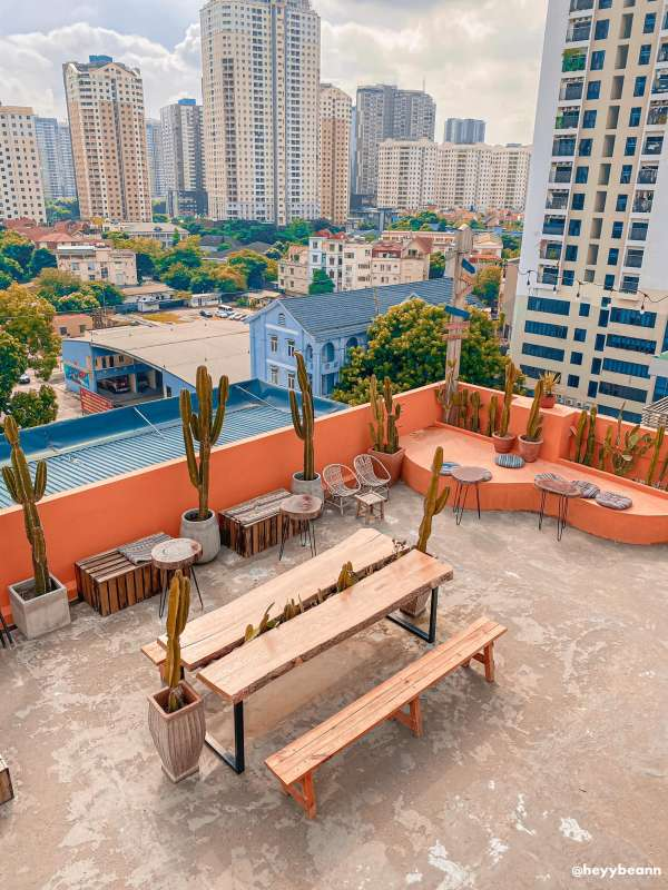 [Review] - Cafe tầng thượng - EM Rooftop Coffee - Hoàng Ngân 3