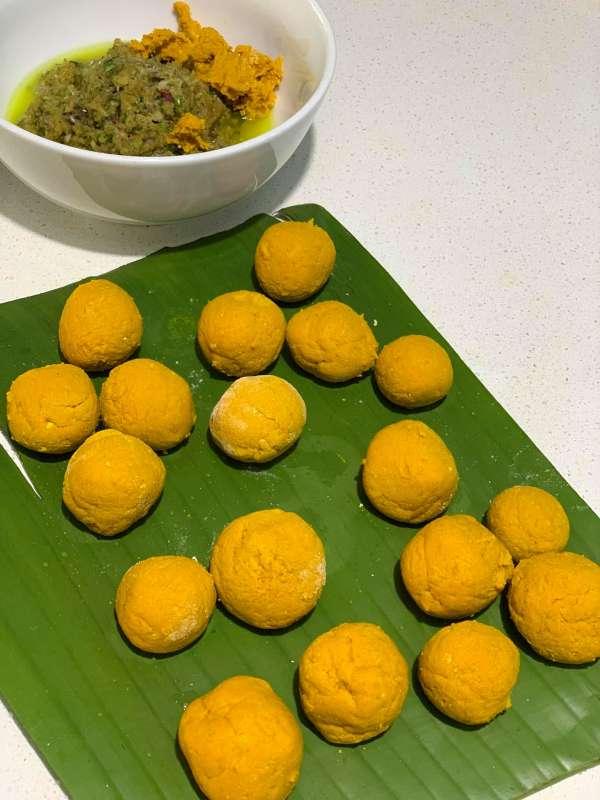 Cách làm Bánh Nghệ, món ngon đặc trưng Thái Bình 19