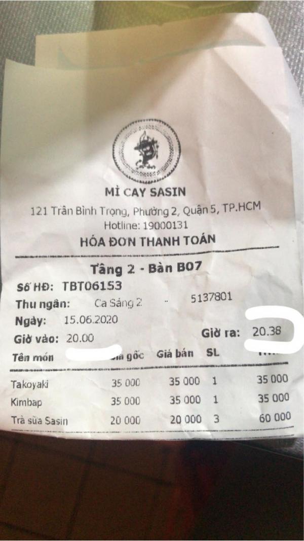 [Góc Bóc Phốt] - Mì Cay Sasin 121 Trần Bình Trọng p12 q5 3