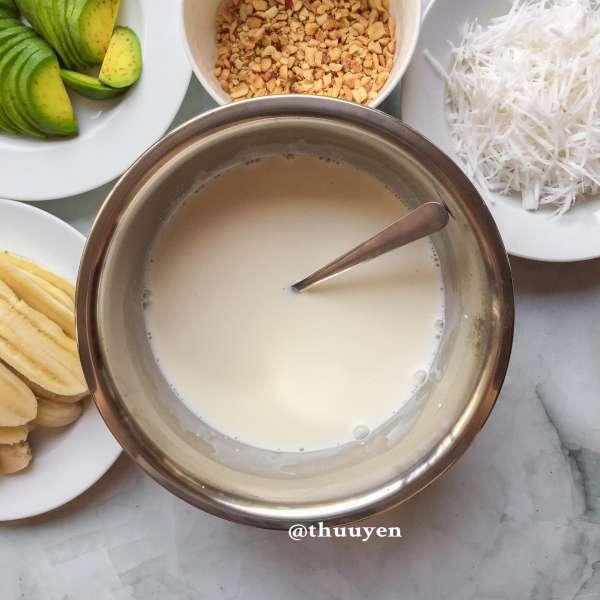 Công Thức Cách làm KEM BƠ CHUỐI ít béo mịn dẻo thơm ngon bao phê 5