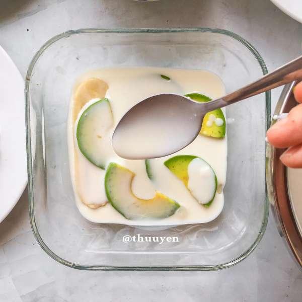 Công Thức Cách làm KEM BƠ CHUỐI ít béo mịn dẻo thơm ngon bao phê 6