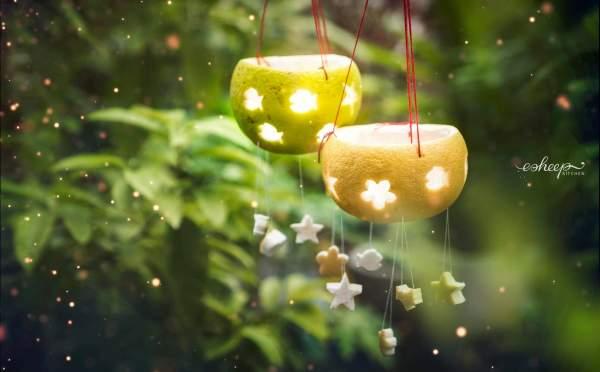 [How to] Làm Đèn Lồng Trung Thu từ Vỏ Bưởi 12