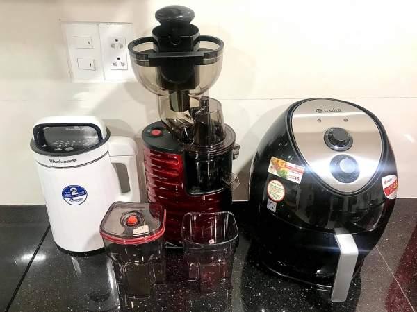 [Review] Máy làm sữa đậu, Máy ép chậm, Nồi chiên không dầu 55