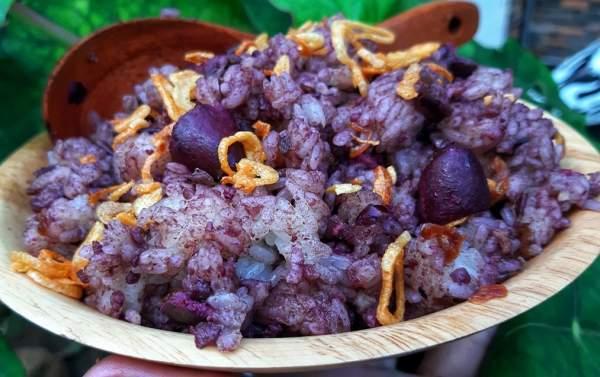 Món ăn từ quả Trám đen : Xôi trám & Trám nhồi thịt 60
