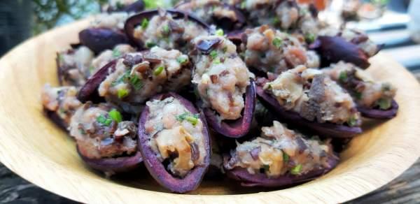 Món ăn từ quả Trám đen : Xôi trám & Trám nhồi thịt 5